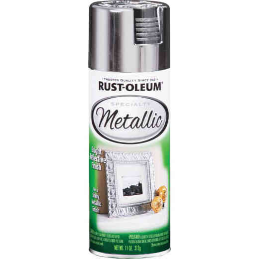 Rust-Oleum Specialty 11 Oz. Metallic Satin Spray Paint, Silver