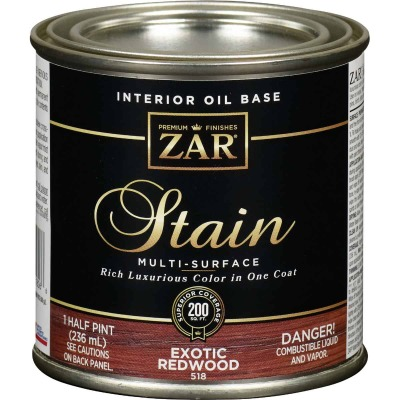 Zar 1/2 Pt. Exotic Redwood Oil-Based Multi-Surface Interior Stain